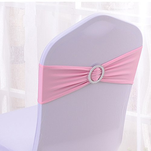 Spandex Chair Sashes Bows hot pink chair sashes chair sashes wedding decoration