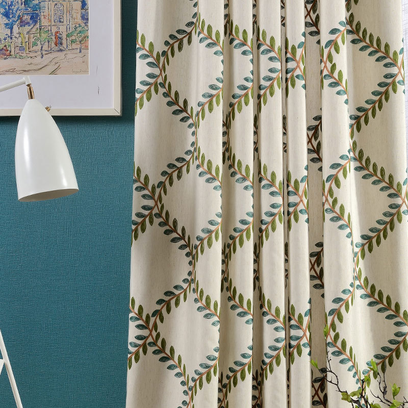 Kitchen Curtain Fabric: New Cotton Embroidered Curtain Fabric Luxury Fashion
