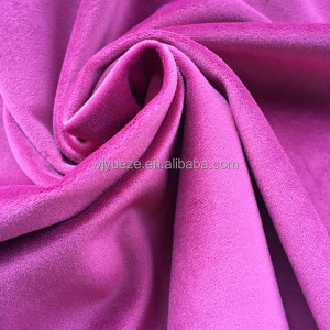 100% polyester plum color velvet fabric for women's wear
