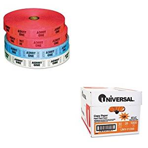 KITPMC59001UNV21200 - Value Kit - Pm Company Admit-One Ticket Multi-Pack (PMC59001) and Universal Copy Paper (UNV21200)