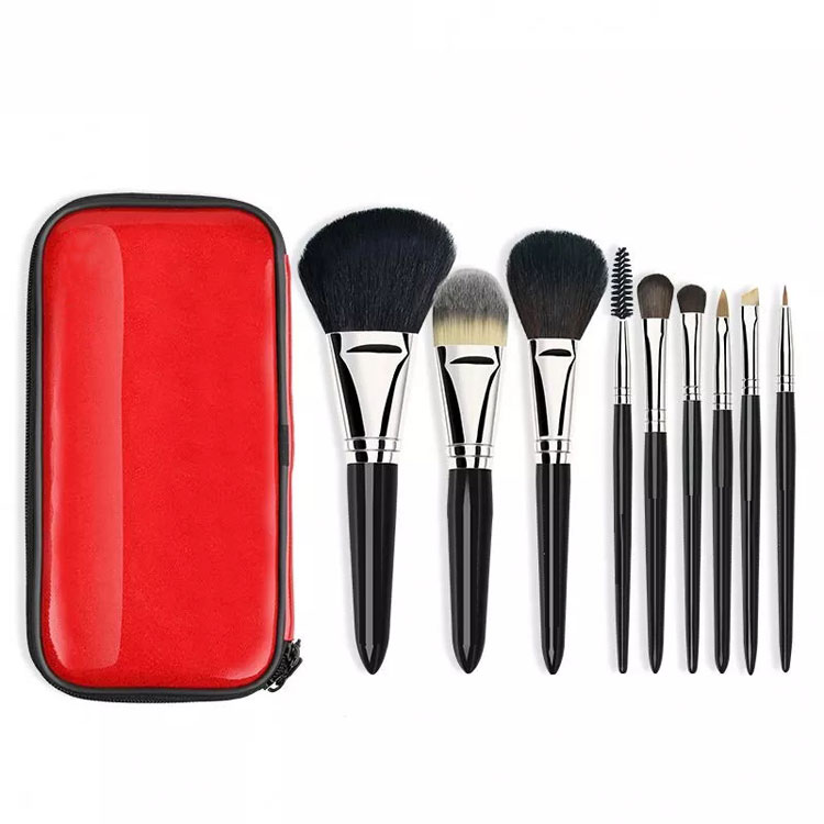 Wholesale portable travel mini professional foundation blending cosmetic private label makeup brush set