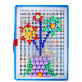New Creative Toys Patterns Mosaic Pegboard Mushroom Nails Jigsaw Puzzle Toy Free Shipping FCI