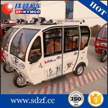 disabled motorized commercial electric cabin closed tricycles