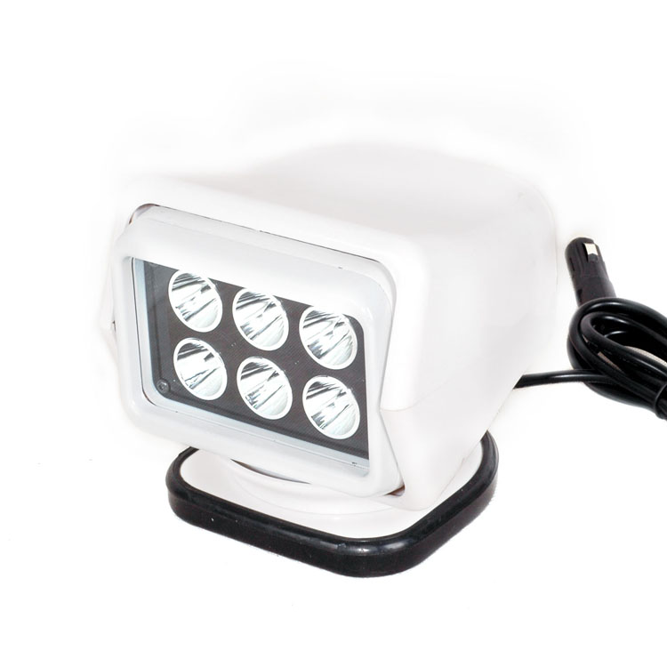 Remote control 7inch 30w marine led searchlight 12v spotlight