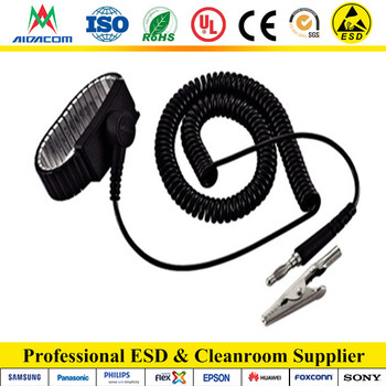 Antistatic function With 4mm,10mm snap ESD wrist strap,Fixed type Metal wrist strap