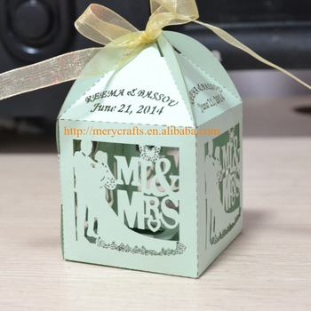 Fancy Laser Cut Wedding Favors Candy Box Wedding Thank You Gifts For