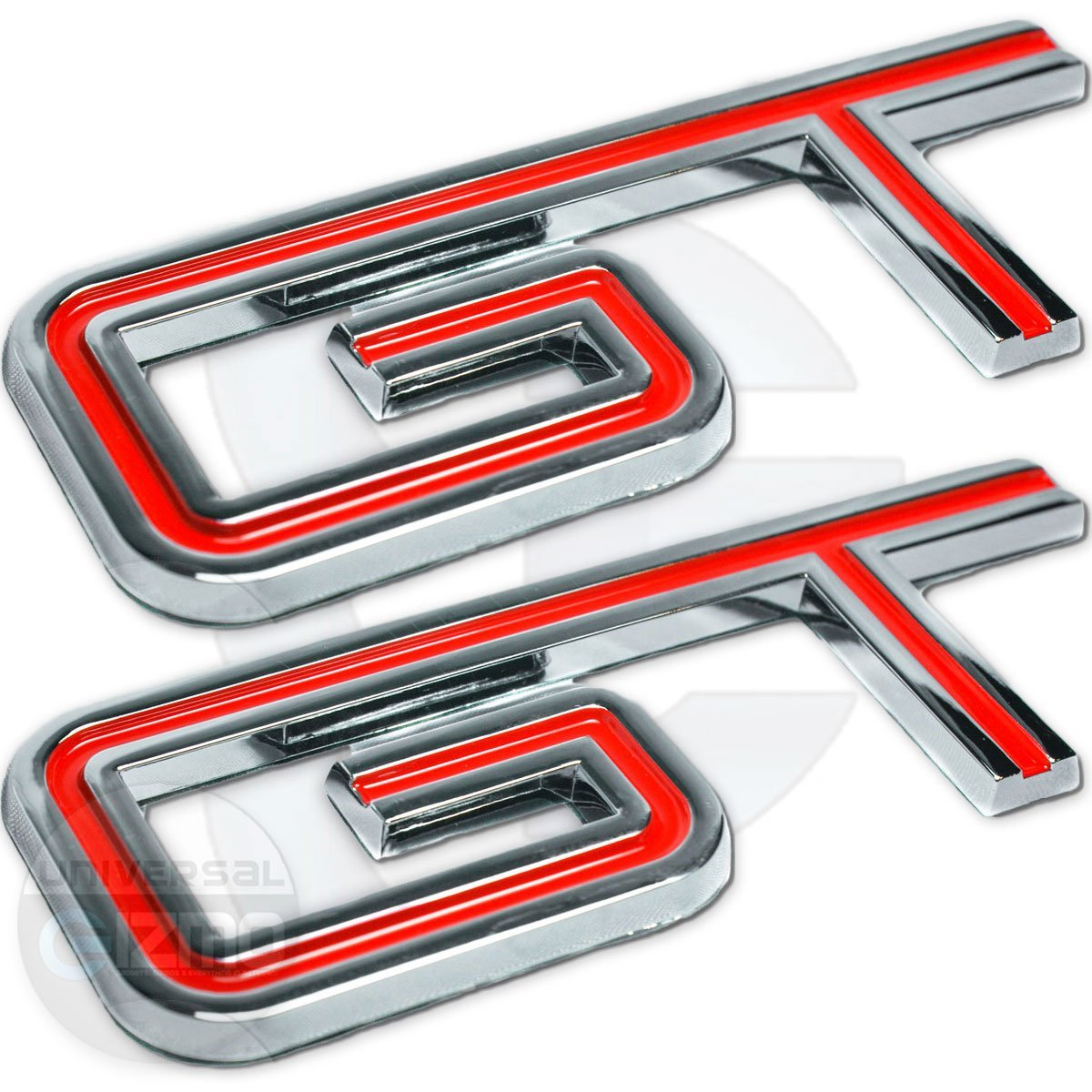 Red Ford Mustang GT Emblem 2005-2010 Fender and Trunk Replacement Badge Decal