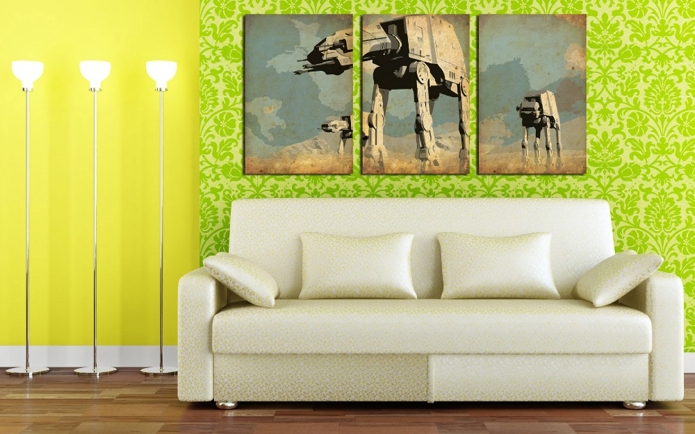 3 Panel Home Decor HD Print Abstract art painting on canvas(No frame) star wars minimalistic pictures for walls