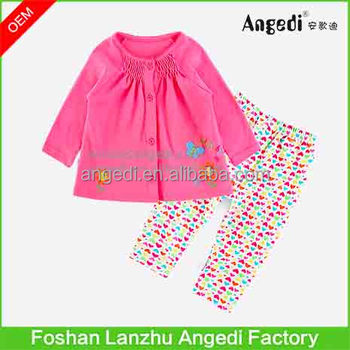 c077229740 Original Design Children's Night Suit Baby Girls Cotton Pajamas Set ...