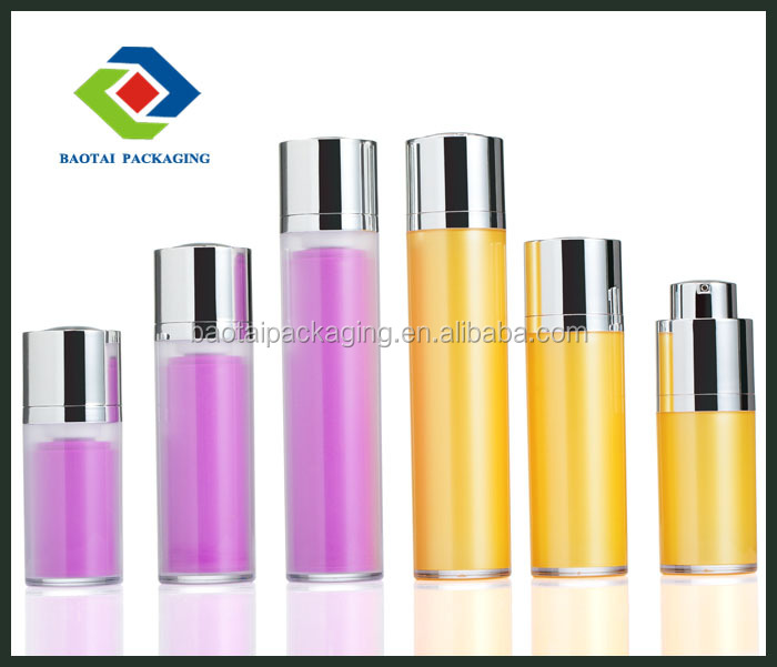 15ml 30ml 50ml frosted factory direct sale round rotating airless bottle