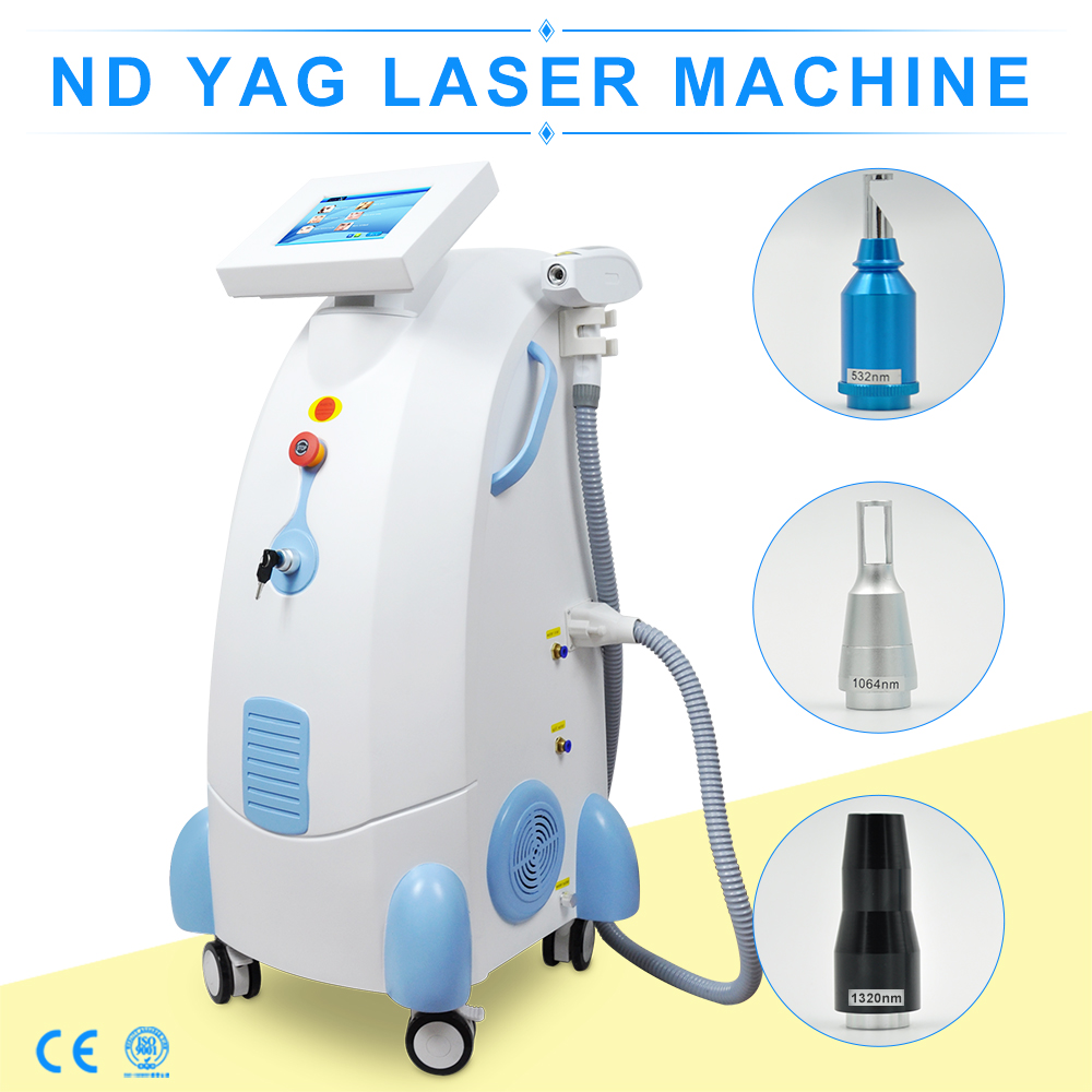 China manufacturer 8 inch screen laser tattoo removal machine q switched nd yag laser for sale