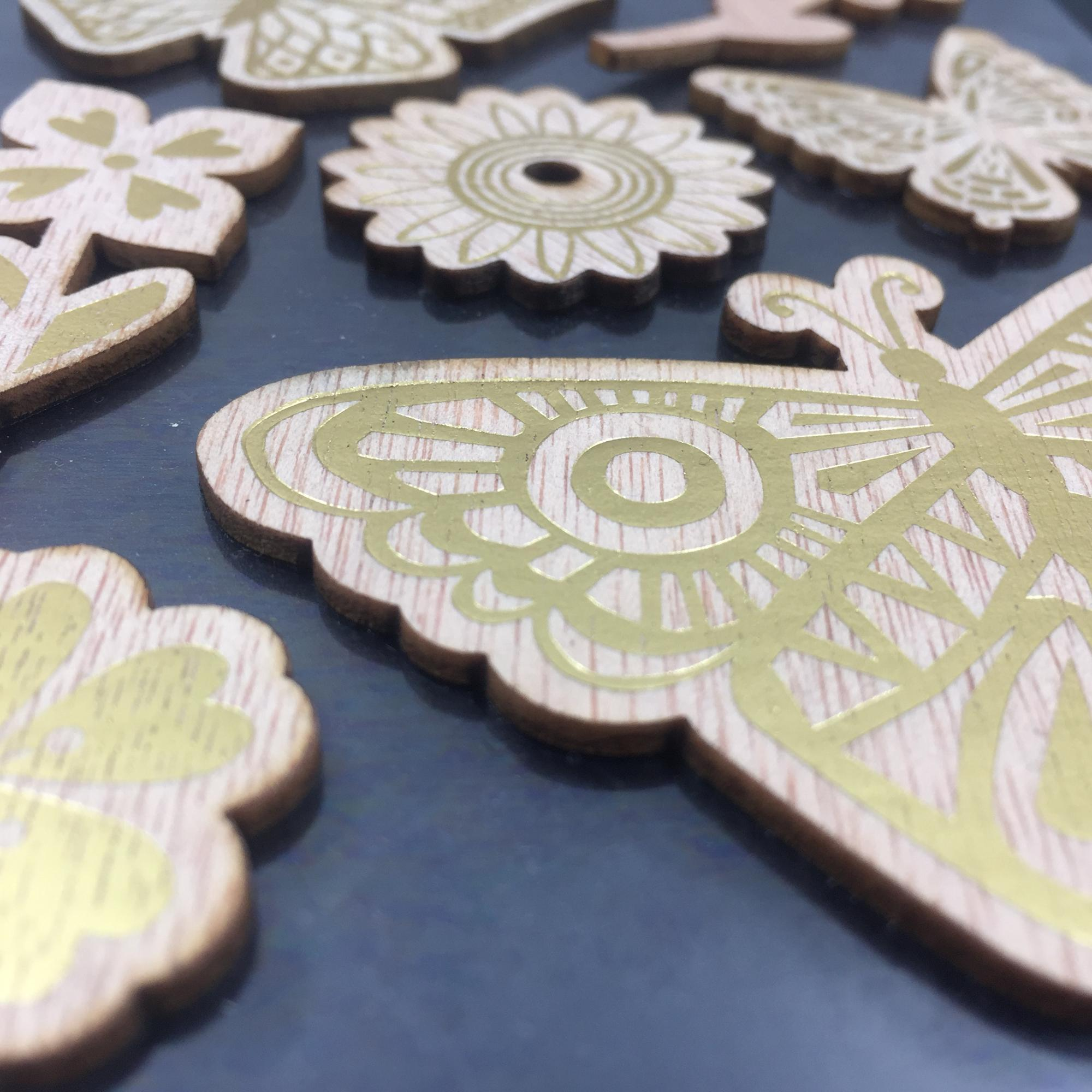 Factory Offer Foil Gold Paint Butterfly Vs Feather Shape