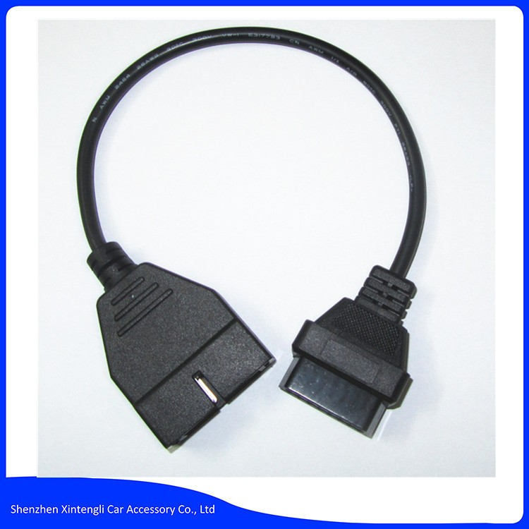 12 Pin OBD/OBDii Diagnostic Adapter 12Pin To OBD2 Connector 16Pin Cable