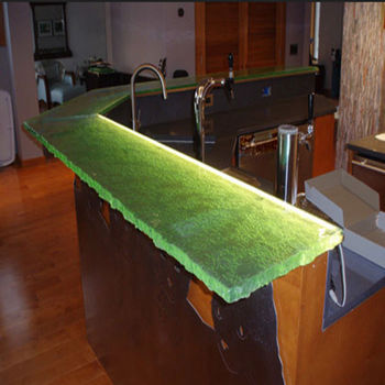 Solid Surface Texture Lighted Counter Tops For Kitchen