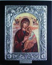 21 cm Holy Virgin Mary Silver Plated Icons