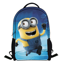 2015 New Fashion Despicable Me 2 Kids Cartoon bags child Backpack boy Minions schoolbag mochila children quality school bag
