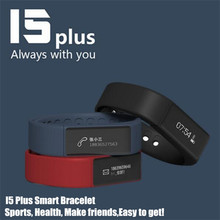 iwown I5 Plus Smart Bracelet Watch Bluetooth 4.0 Waterproof Touch Screen Sport Tracker Health Wristbands Sleep Monitor,+Gift Box