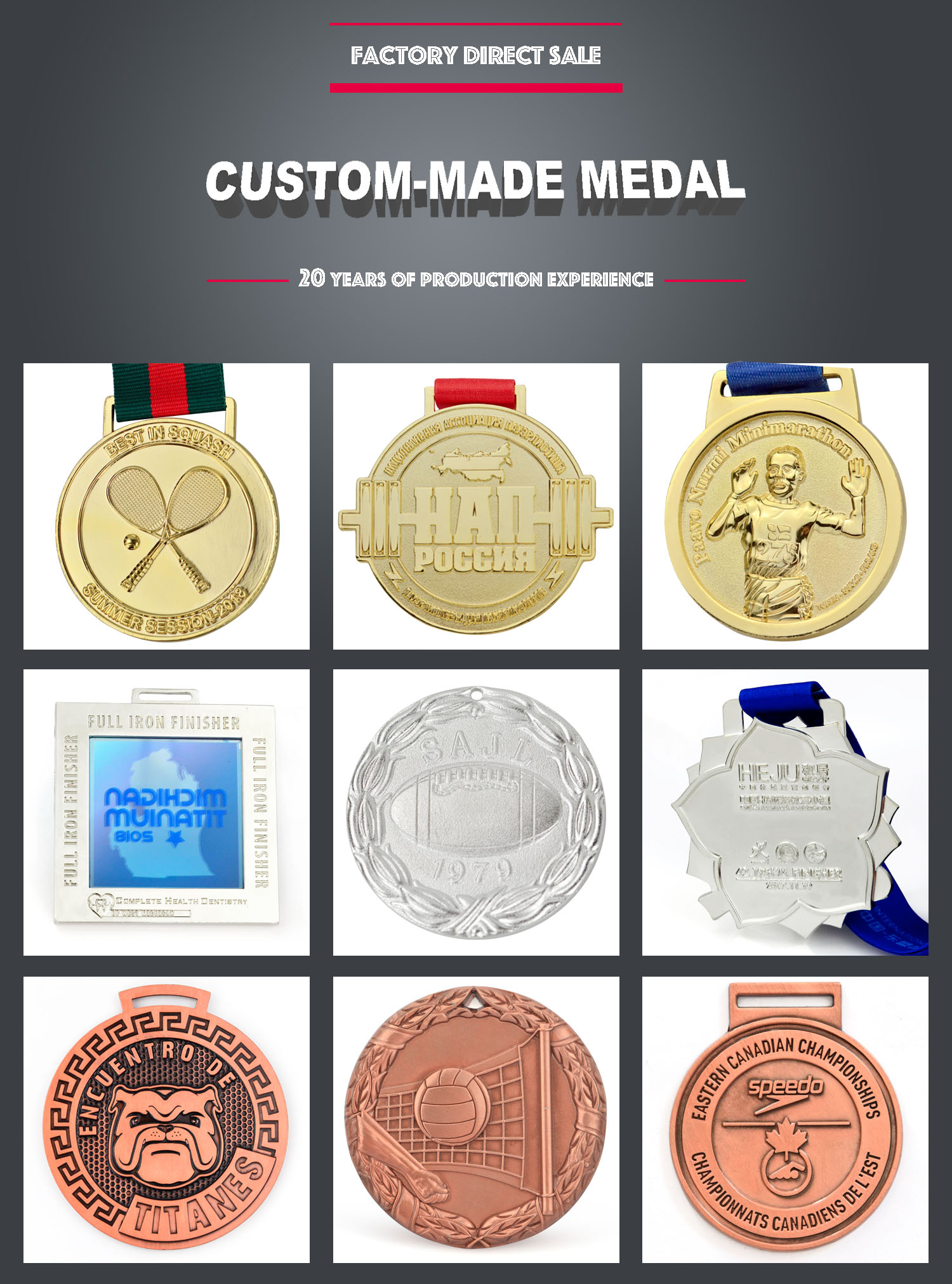 Wholesale hot sell cheap custom personalised design your own medal for dogs