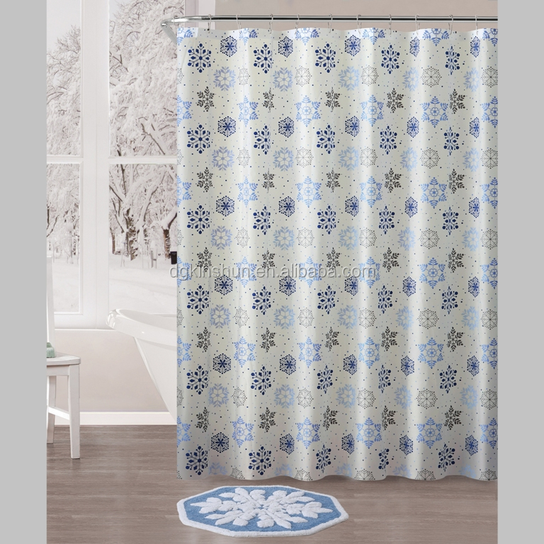Waterproof Printed PEVA Shower Curtain, Housewares mildew resistant Shower Curtain Liner