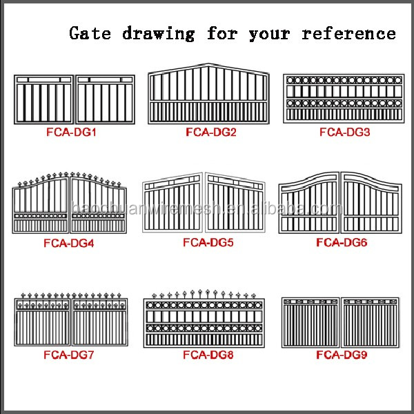 powder coated high security and beautiful wrought iron gates models