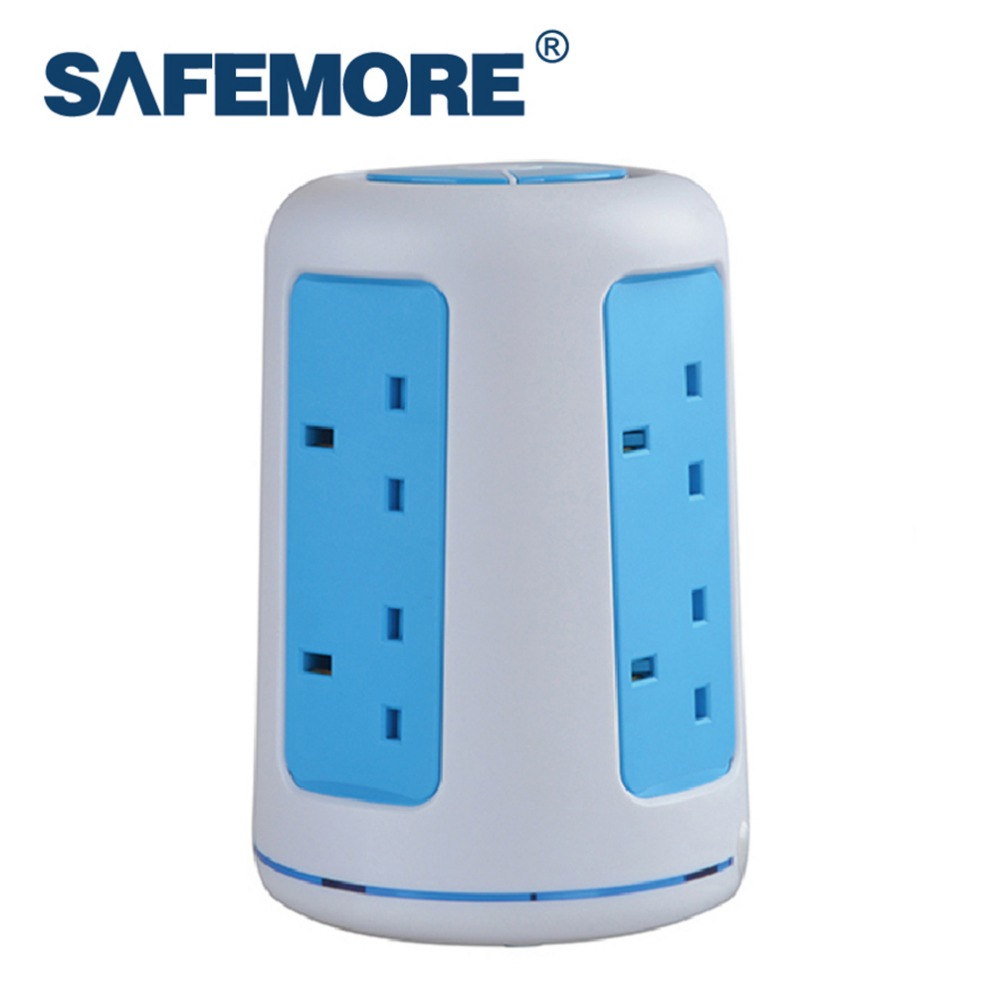 SAFEMORE Origin SASO Office Desktop Smart Vertical Extension Socket with 2 USB