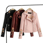 FS0611A 2018 wholesale China clothing good quality women PU leather coats jackets