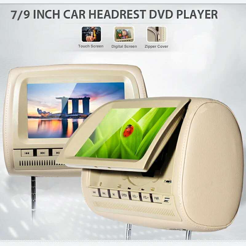 7 inch AHD TFT LCD car seat screen in car monitor with DVD
