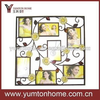 unique sunflower wall photo collage frame - Collage Photo Frames