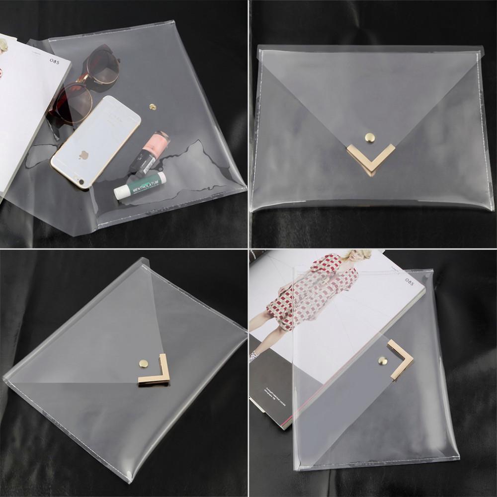 Wholesale Women Unique Clear Envelope Clutch Pvc Vinyl