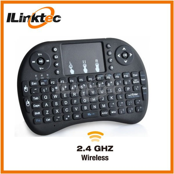 2.4G Wireless Slim Keyboard with Touchpad and multimedia keys for samsung smart TV