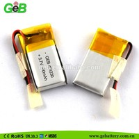 OEM/ODM high quality GEB401230 3.7v 100mah smart phone lithium polymer battery pack