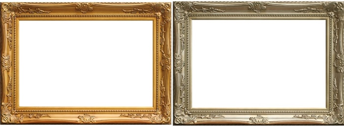 European Baroque Style Gold/Silver Classical Large Painting Frames