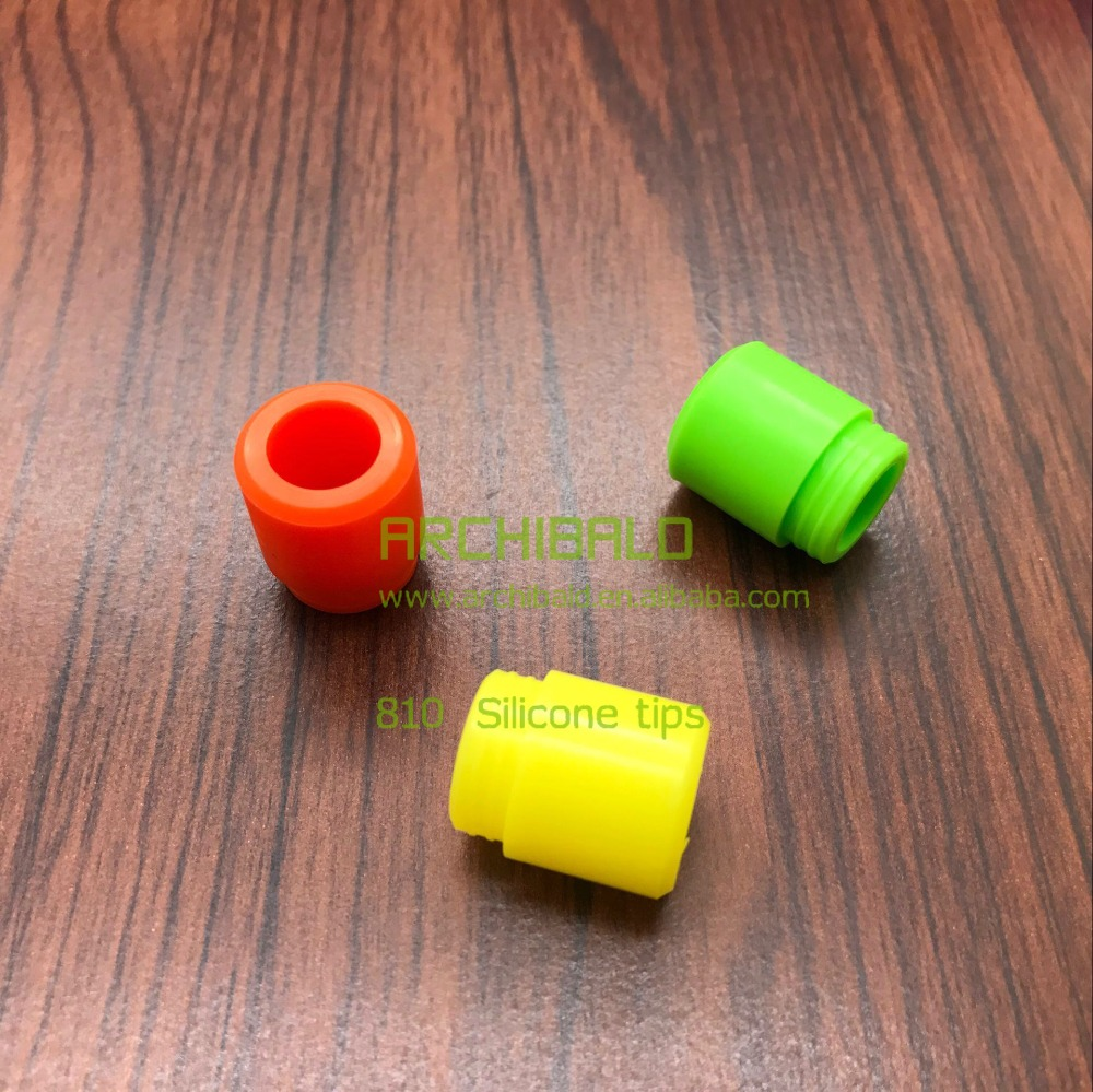 Fashion Alibaba hookah mouthpiece FDA 810 silicone mouthpiece drip tips wholesale in stock