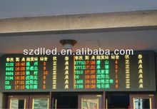 P10/P16/P20/P25 single red /amber/yellow led display train information display board