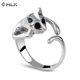 Cute cat rings for women Lovely animal statement jewelry rings