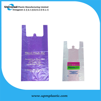 hdpe plastic vest T-shirt bags for supermarket