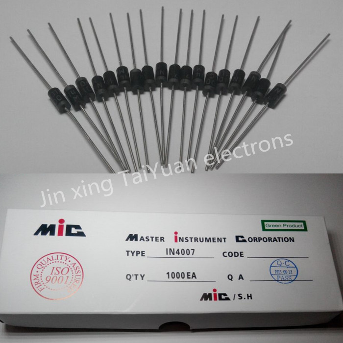 Electronic Components & Supplies High Quality 100pcs 1n4007 4007 1a 1000v Do-41 High Quality Rectifier Diode Professional Terminal Ic ... Active Components