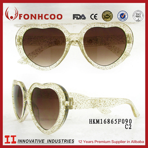 FONHCOO Zhejiang Wenzhou Christmas Gift Kids Heart Shaped Sunglasses