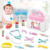Portable Medical Suitcase Medical Box Toy Simulation Doctor Toy Set Educational Learning Interactive Game Pretend Play Toys