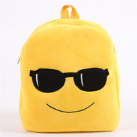 2016 Newest wholesale emoji backpack plush soft school supply made in China
