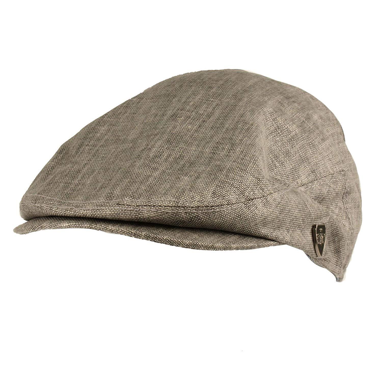 399e2f1996a Get Quotations · SK Hat shop Men s Summer 100% Linen Front Snap Flat Golf IVY  Driving Cap Hat