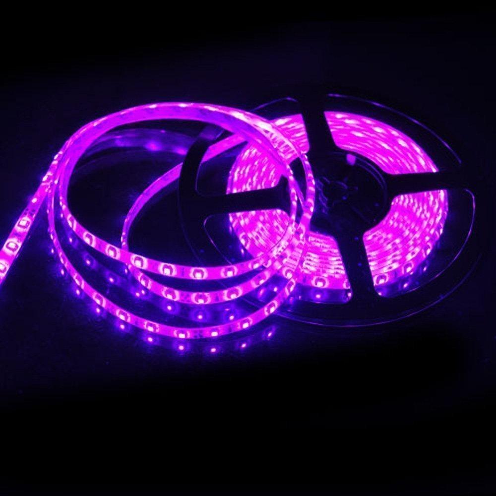 DoDoLightness Decoration Strips Light 12V Flexible LED Strip Lights, Pink, Non-Waterproof, 300 Units 3528 LEDs, Light Strips, Pack of 16.4ft