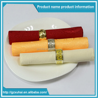 Guangzhou high quality 5 star hotel personalized napkins for wedding