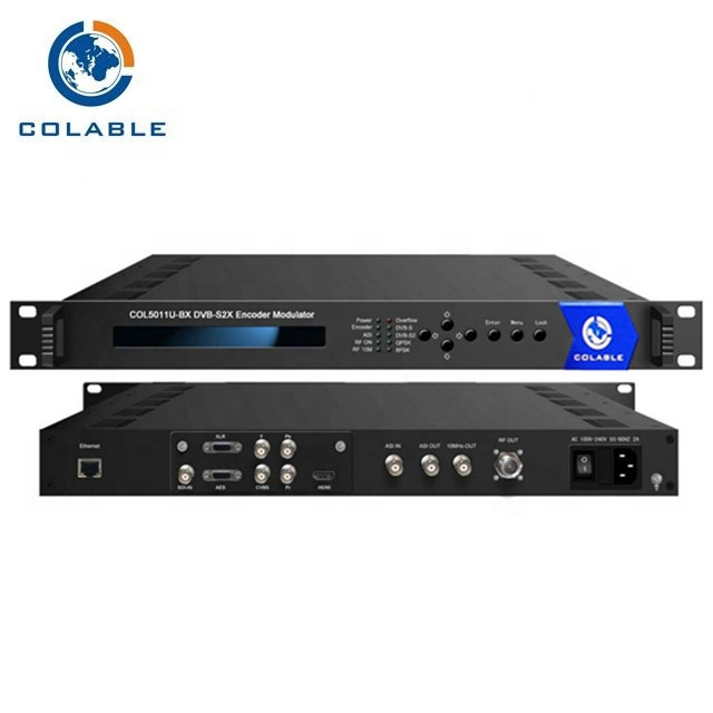 Professionale di head-end TV attrezzature HD/SDI//YPbPr/CVBS per DVB-S2/S2X encoder modulatore