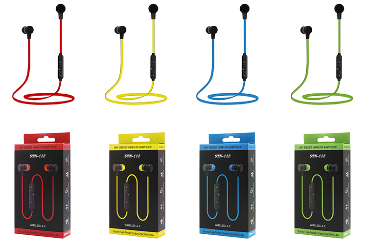 bluetooth 4.2 free sample earbuds wireless blue tooth in plastic case