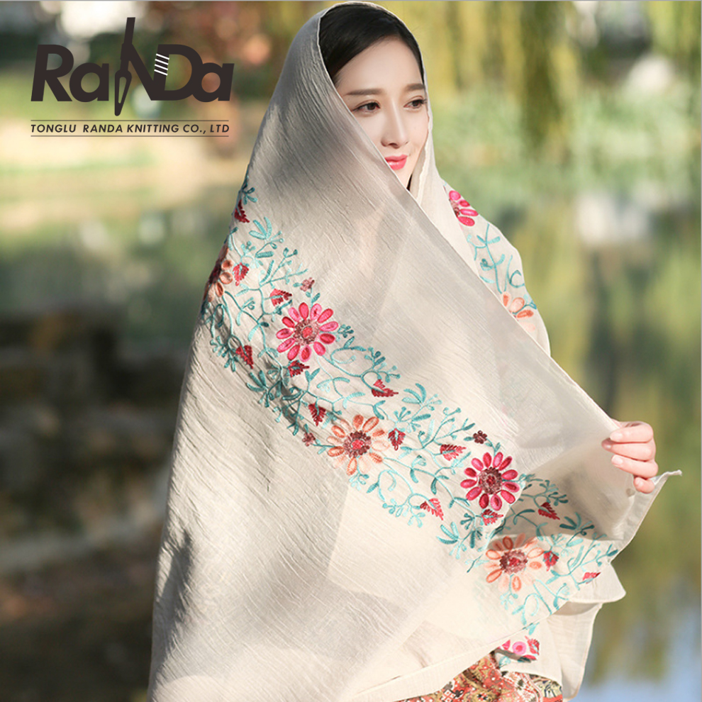 popular hot sell arab embroidery scarf wholesale