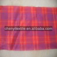 red plaid fabric