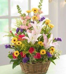 Birthday Flower Spring Basket Buy Birthday Flower Product On