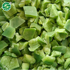 High quality BRC certified IQF frozen green pepper strip slice cube dice puree hot sale