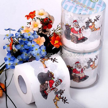 Cheap Together Christmas Printed Funny Toilet Paper